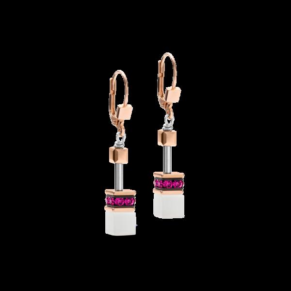 GEOCUBE Pink/White Earrings