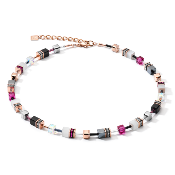 GEOCUBE Pink/White Necklace