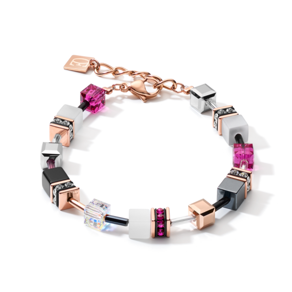 GEOCUBE Pink/White Bracelet
