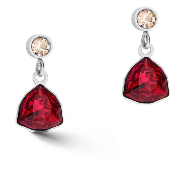 GEOCUBE Red Gem Earrings