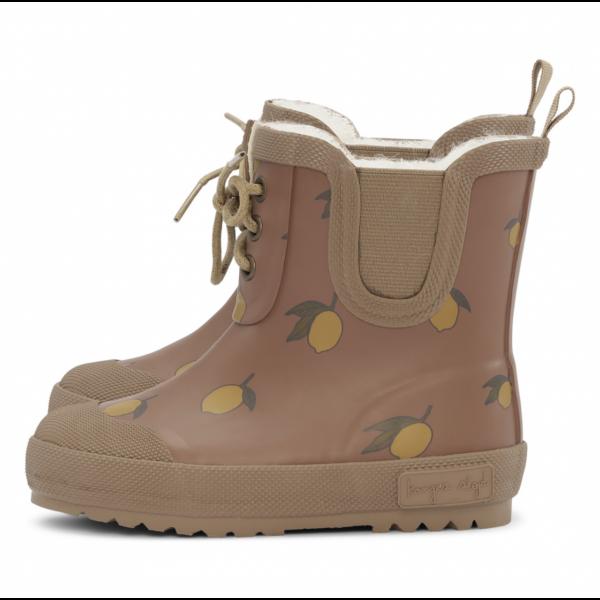 Støvler fra KONGES SLØJD - Thermo boots print - lemon brown