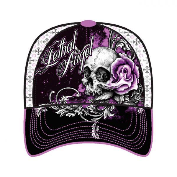 LT, FLORAL SKULL ROSE CAP