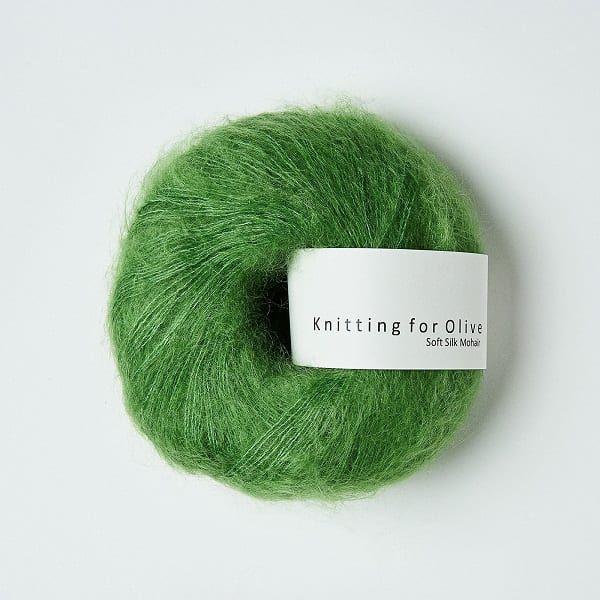 Kløvergrøn - Soft Silk Mohair - Knitting for Olive