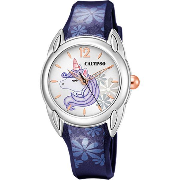 Calypso barneur enhjørning,blå rem