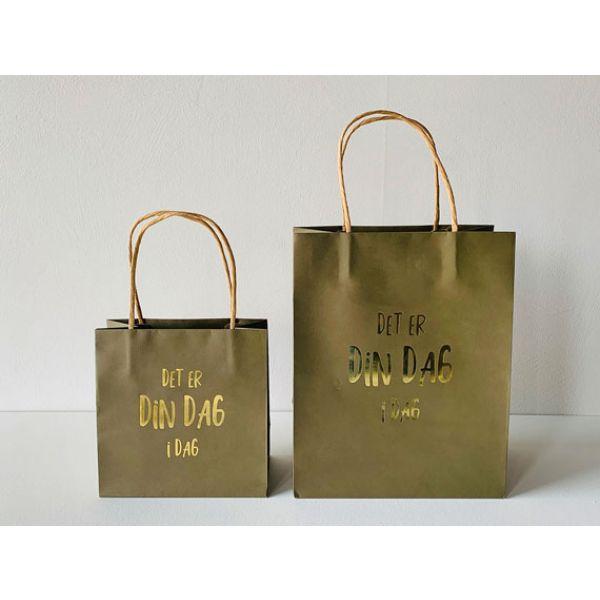 Gavepose «det er din dag i dag!» oliven