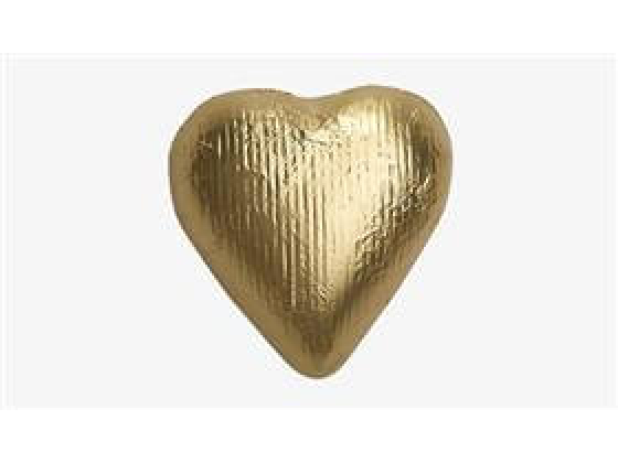 Sjokoladehjerte gull