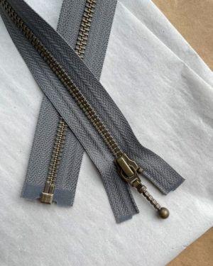 Glidelås til Zipper jacket 45 cm Granit