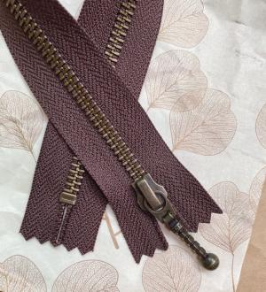 Glidelås til Zipper sweater 35 cm Chokoladebrun