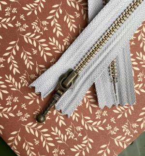 Glidelås til Zipper sweater 35 cm Duegrå