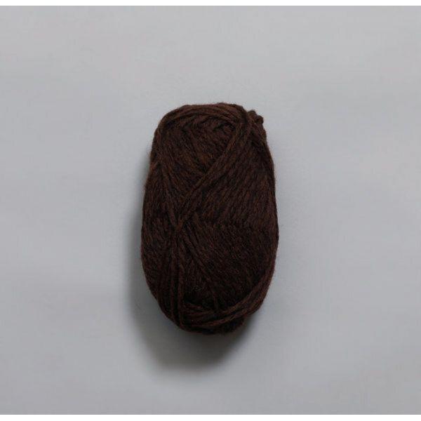 Vams 417 Mørk sjokolade melert - Rauma Garn