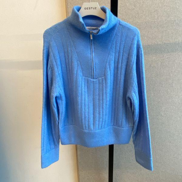 Alpha Zipper Pullover Blue