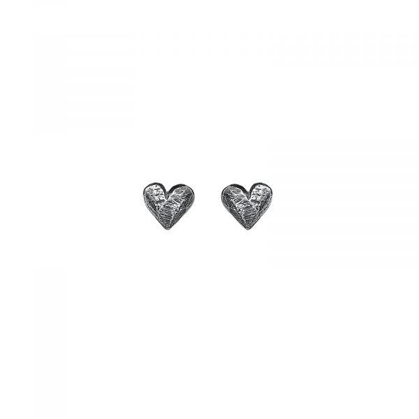 Oksidert sølv hjerter - Ørepynt