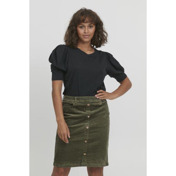 PZSALLY Green Skirt Short