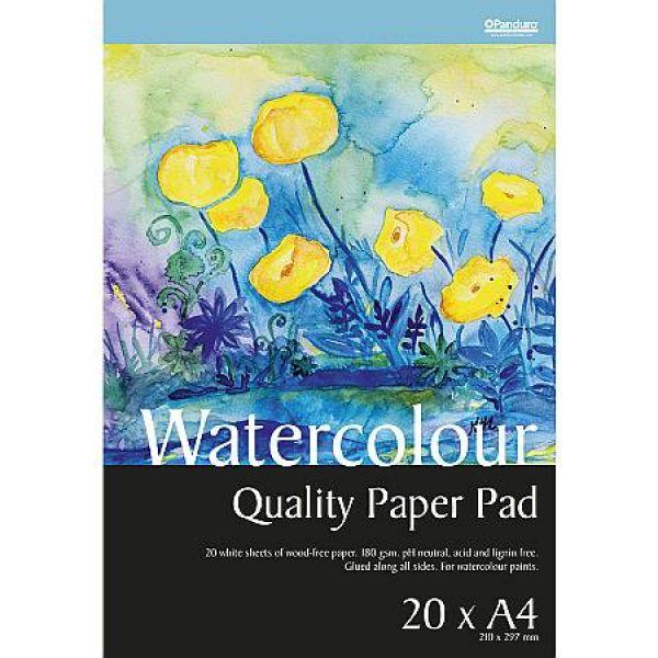 Maleblokk A4 - vannfarger