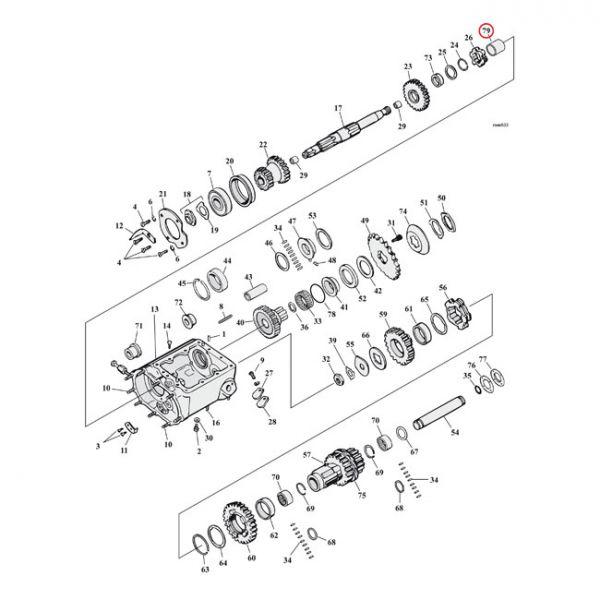 INNER RACE, BEARING. TRANSM.  L84-85 FXST; 85-86 FXWG, FXSB, FXEF(NU)