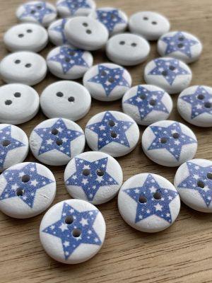 Blå stjerne - 15mm