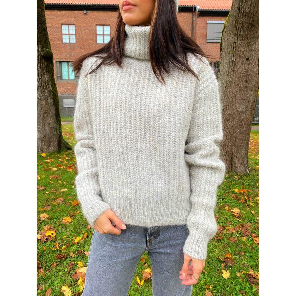 Bruravik Sweater - Light Grey Melange