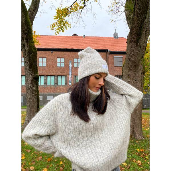 Odda Beanie - Light Grey Melange