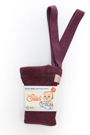 SILLY SILAS - TIGHTS FOOTLESS FIG BLEND