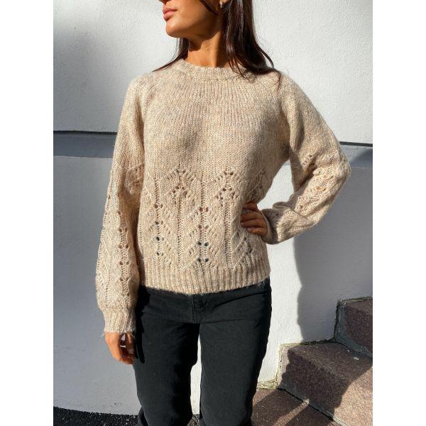 Jazlyn Knit Pullover - Creme/Melange