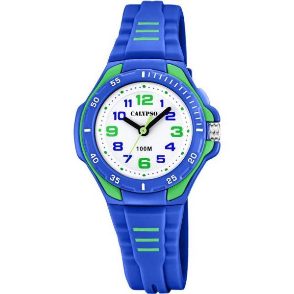 Calypso barneur blå/grønn