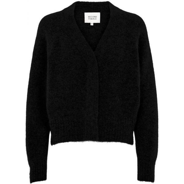 Brooky Knit Boxy Cardigan - Black