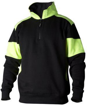 Sweatshirt Zip 222 svart/gul
