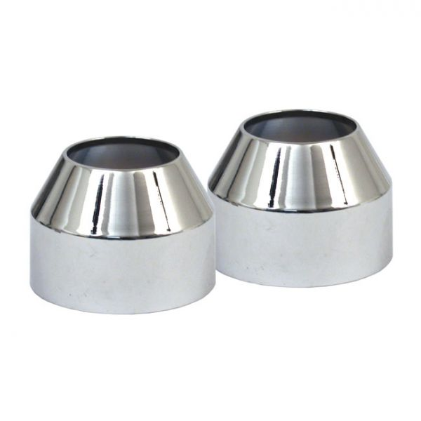 FORK BOOT COVER, CHROME 41MM