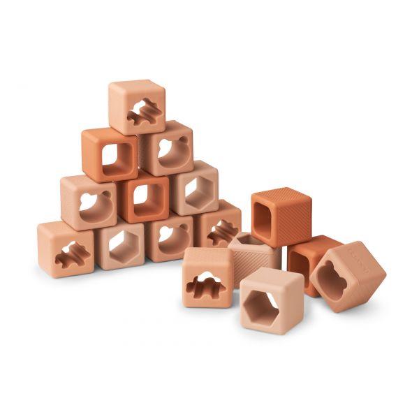LIEWOOD - LOREN BUILDING BLOCKS 16-PK TUSCANY ROSE MIX
