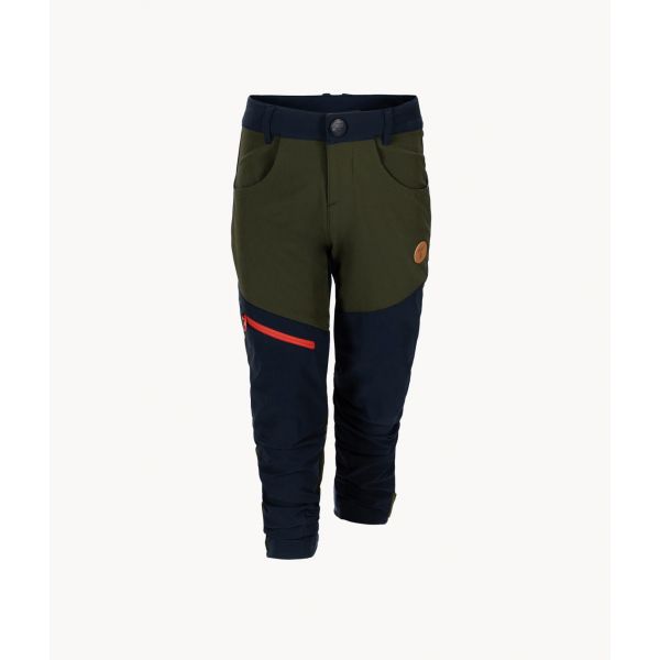 Kids softshell pants - Forest Night