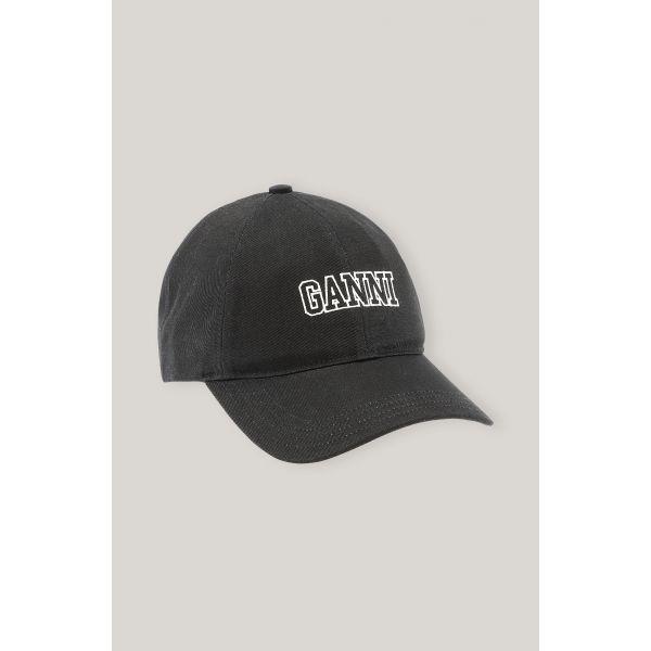 GANNI CAP BLACK