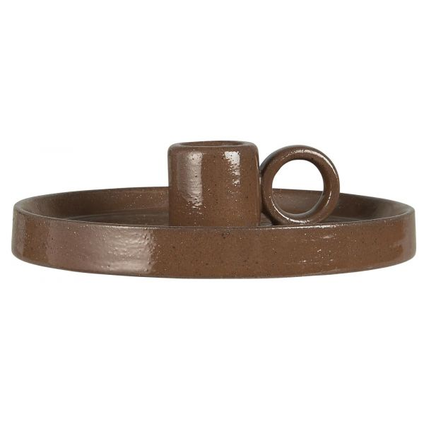 Kammerstake keramikk brun