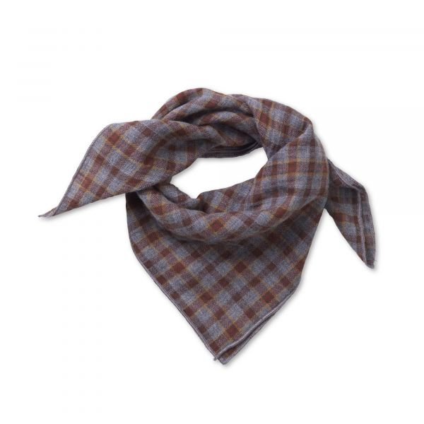 LALABY - EDDIE SCARF GREY CHECK