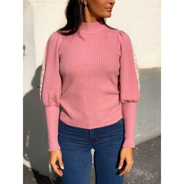 Decor Knit Turtleneck - Pink