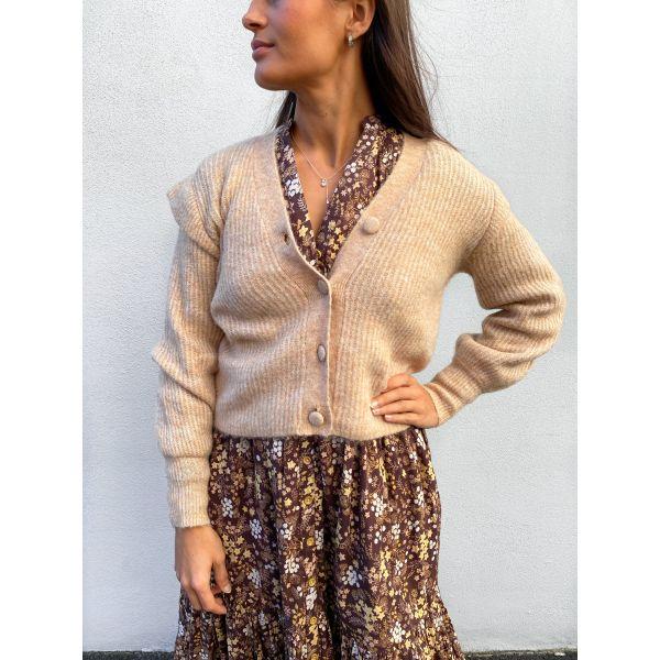 Balira Knit Cardigan - Cuban Sand