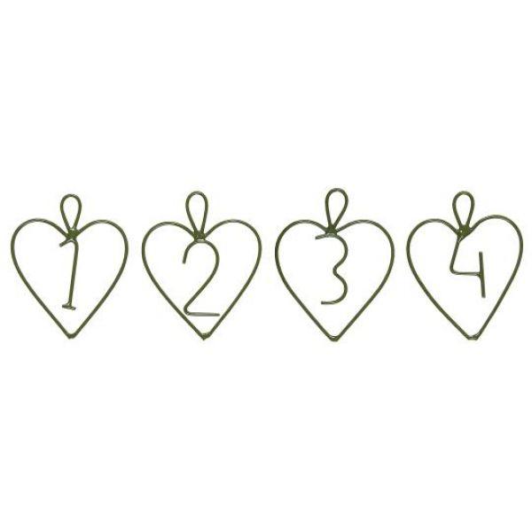 Adventstall 1-7 hjerteformet