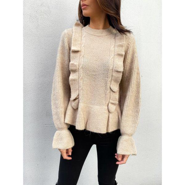 Cutiepie Knit Pullover - Cuban Sand