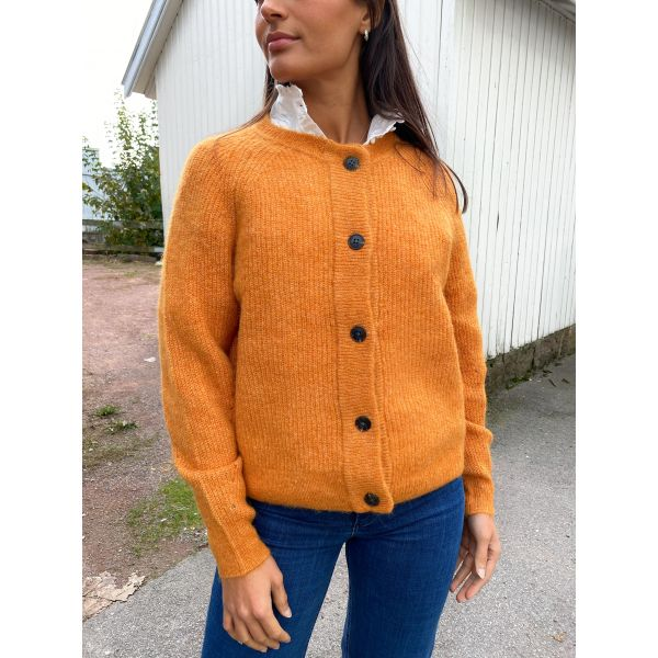 Lulu Knit Short Cardigan - Pumkin Spice/Melange