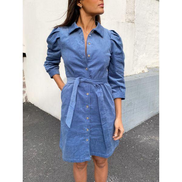 Olivia - Olli 7/8 Corduroy Dress - Country Blue