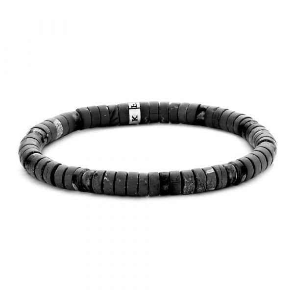 Matt Grey and Black Agate Bracelet