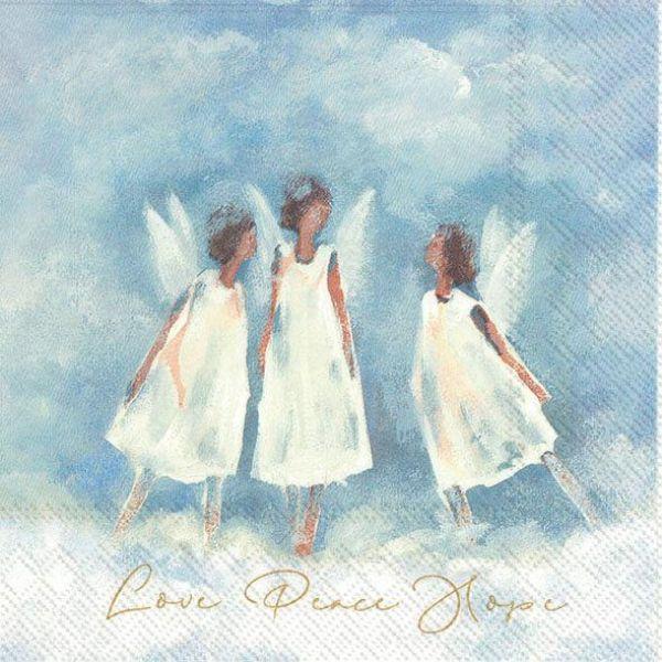 Love Peace Hope  – Kaffeserviett