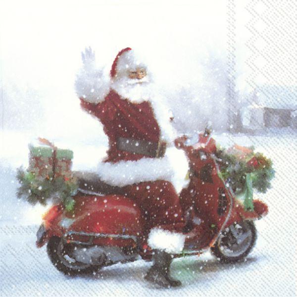 Santas scooter – Lunsj