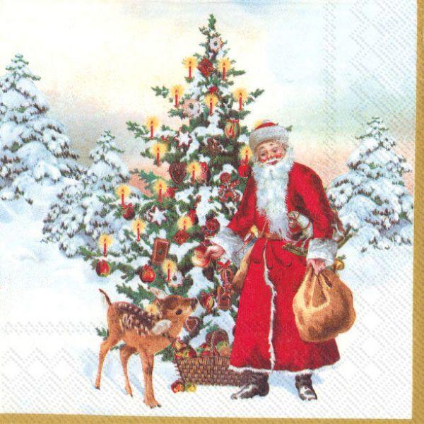Annual Christmas Santa Kaffeserviett