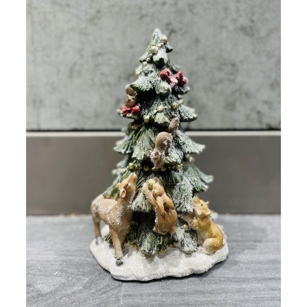 Juletre med dyr