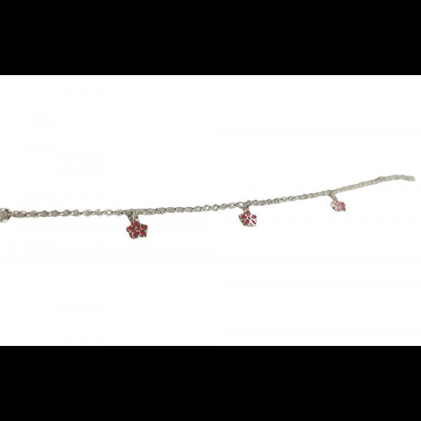 Barnearmbånd - Rosa blomster