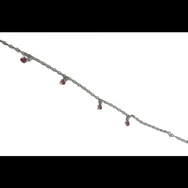 Barnearmbånd - Rosa zirkoniaer