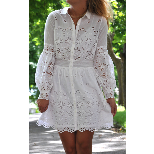 DRESS BRODERIE ANGLAISE WHITE