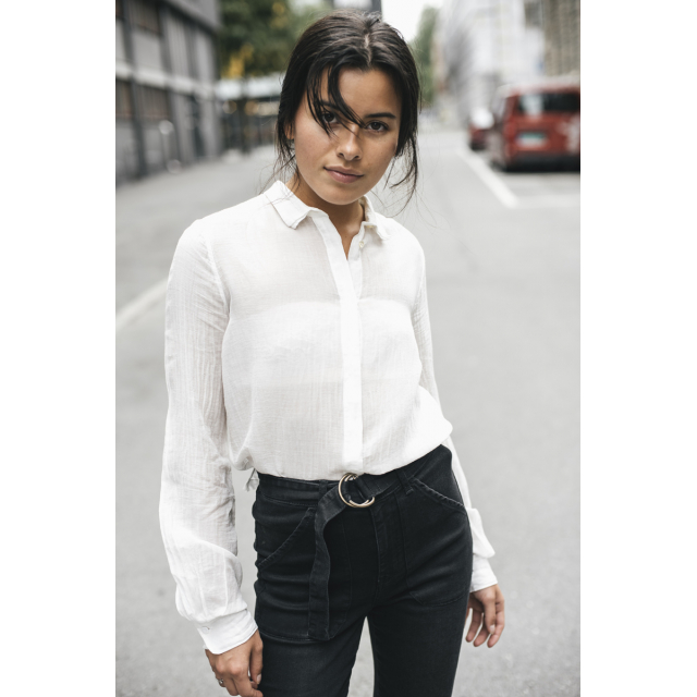 VOILE COLLAR SHIRT