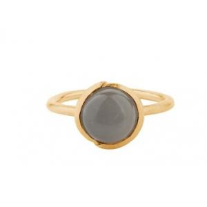 Aura grey moonstone ring