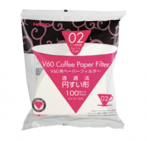 Hario papirfilter for håndbrygger V60 02 100 stk